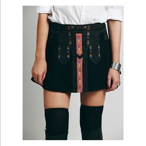 Free people New Romantics tribal cheer skirt xs